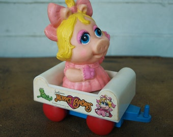Miss Piggy in Train Car from the Muppet Babies Series by Durham Industries Inc. circa 1985 - Item # 2026