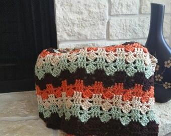 Crochet Fall Blanket // Fall Afghan // Fall Decor // Home Decoration // Fall // Thanksgiving // Thanksgiving Decor // Crochet Throw