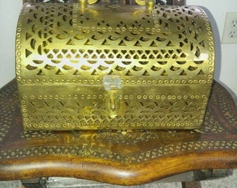 Vintage Treasure Chest/Cricket Box Made in India