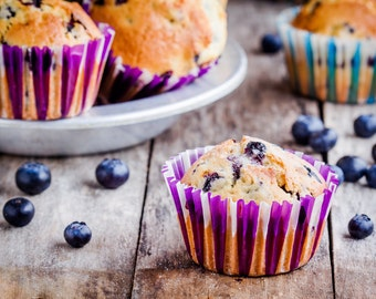 Organic Paleo Blueberry Muffins