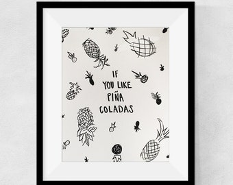 Pina Coladas - 8 x 10 Print