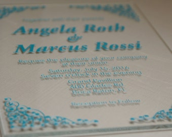 Custom Wedding Invitations - Customizable acrylic invitations for weddings, birthdays, anniversaries, parties, etc..