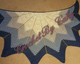 Crochet Shawl with zigzag patern