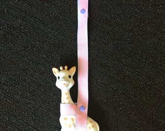 Customized Leash for Sophie the Giraffe - Ready to Ship! Great baby shower gift!