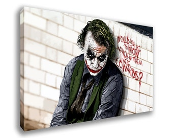 The Joker Batman The Dark Knight Origins Canvas Wall Art