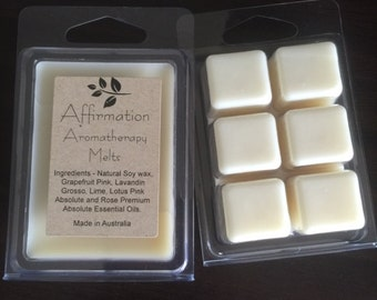 Aromatherapy Essential Oil Soy Melts - Affirmation