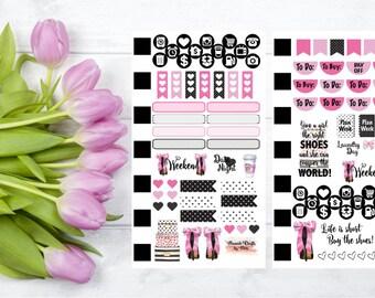 Shoe Lovers Kate Spade Inspired Personal Planner Sticker Kit