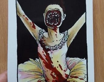 Faceless Ballerina from 'Cabin in the woods' postcard print - Villain deck
