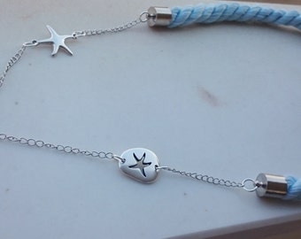 Summer Nautical Baby Blue Necklace
