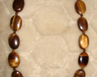 Hand made necklace, Tiger eye Beads