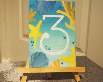 Beach Theme Hand Painted Canvas Board
