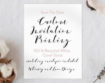 Custom Invitation Printing - Save The Date
