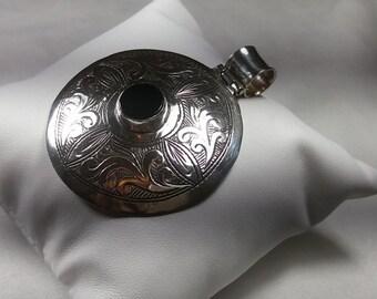 Colgante, collar de plata 9.25 Y Onyx, Look Vintage, 925 plata  ,  diseño único