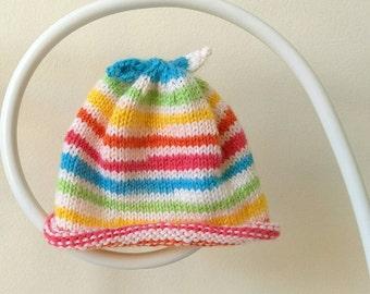 Sunshine Stripe Newborn Baby Hat