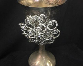 Silver Goblet Embellished