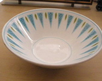 Vintage Mikasa Cera-Stone Blue Point bowl - mid century mod style