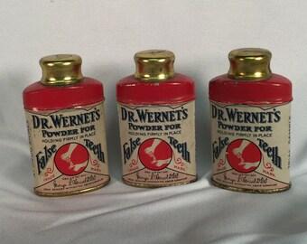Vintage Dr Wernet's Powder for False Teeth