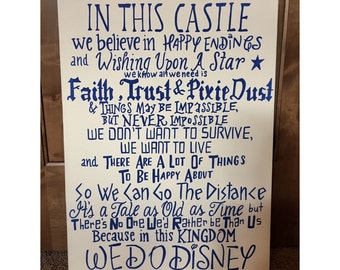In This Castle, We Do Disney canvas