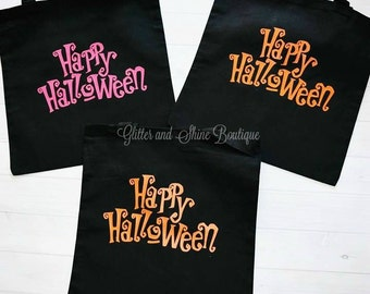 ON SALE, Halloween Treat Bag, Trick or Treat Bags, Halloween Bags, Goodie Bags, Treat Bags, Personalized Treat Bags, Halloween Bag Ideas