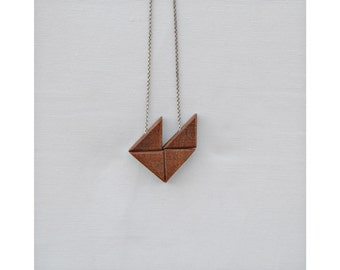 wood necklace, wooden necklace, silver necklace, birthstone necklace, necklace gift, geometric necklace, jewelry, for her, gift jewelry
