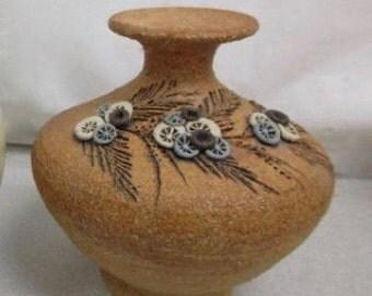 Carma Studio Pottery,  Handmade, Oil Lamp, Signed from Sedona, Arizona