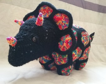 Hand Crocheted Plod the Triceratops