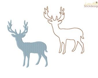 Embroidery file deer