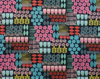 All Mine in a Line Navy Alexander Henry Fabric