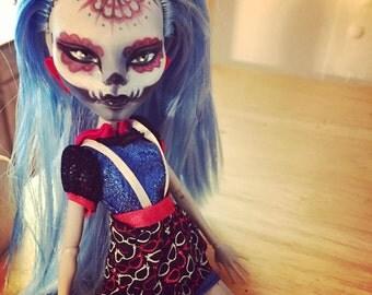 Custom Monster High Ghoulia - Repainted - Sombra