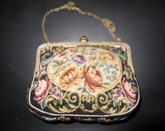 Handmade French tapestry bag from the 20s ...