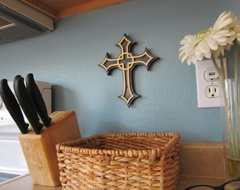 Christian Black and Brown Wooden Cross