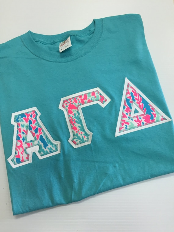 greek letters shirts sorority letter shirt lilly pulitzer aqua 13920 | il 570xN.1044083092 sd1x