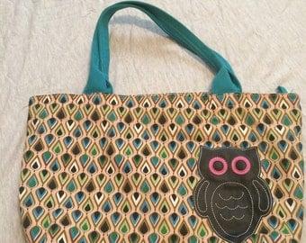 Mid century modernpattern  owl purse