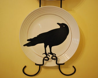 Raven Silhouette Plate