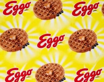 "Waffle Fabric: Kelloggs Eggo Fabric- Kellogg's Eggo Sunshine 100% cotton Fabric by the yard 36""x44"" (SC58)"