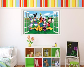 Mickey Mouse Disney Clubhouse 3D Effect Graphic Wall Vinyl Sticker Decal Part 96