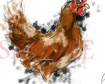 Chicken - A3 print