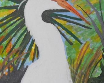 Egret, L205, Large White Egret