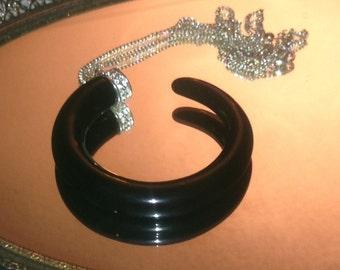 Vintage Black Horn Necklace