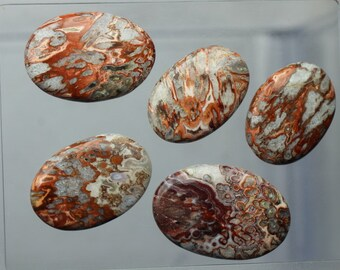5 piece set cabochon 33 -- 42.5 mm approx