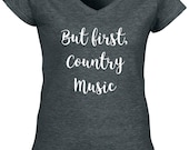 But first country music t shirt Shirt Country T Southern Music S Girl Tee Sunshine And Whiskey  V Neck Bright