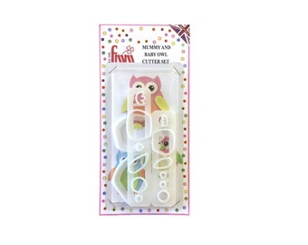 Mummy & Baby Owl Cutter Set