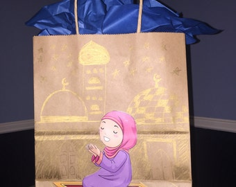 Eid/Ramadan Gift bag- Praying Girl
