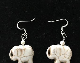 Small Elephant Earrings