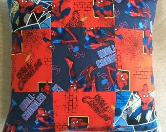 Spiderman Patchwork Cushion Cover