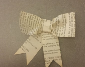 Handmade book bows