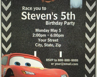 Cars invitation