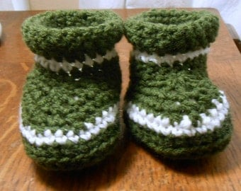 Crochet forester baby boots