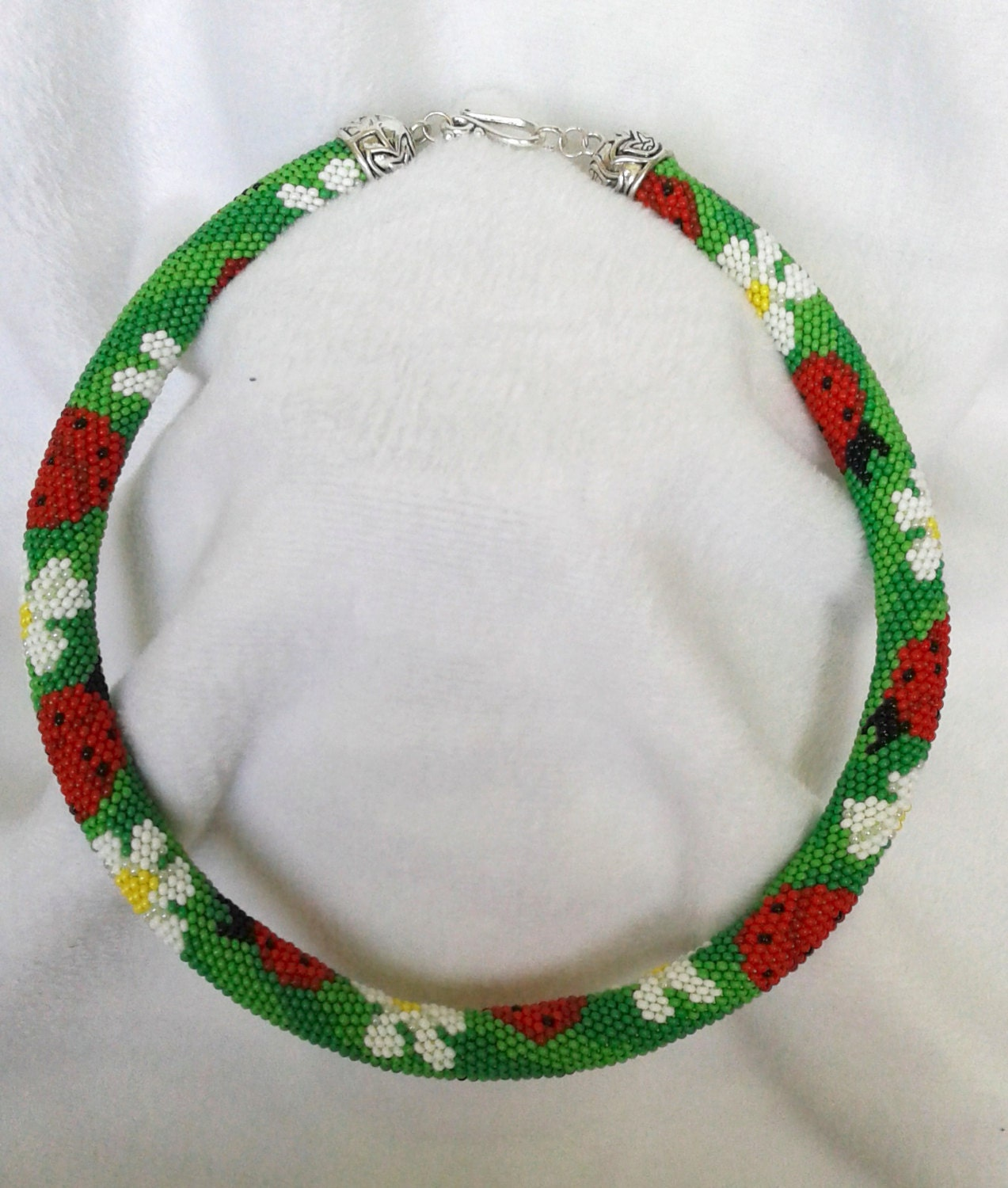 beaded necklaces green necklace crochet beaded necklace trendy