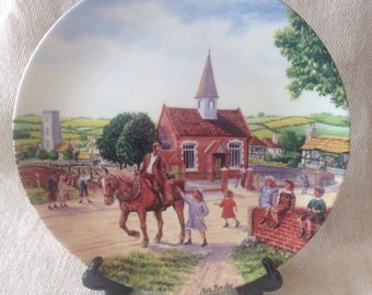 "Royal Doulton Limited Edition ""Journey Through the Village"" series plate- The Farewell"